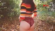 Trish stratus sex video Plein air - copine hipster prend son pied dans les bois.