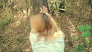 Doggie sex videos Amateur teens fucking doggy style in the forest - amateur outdoor fuck pov