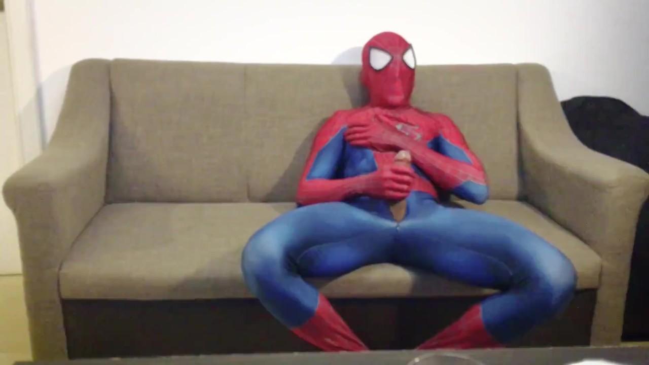 Возбужденный человек-паук сопляки от и кончает массивная нагрузка