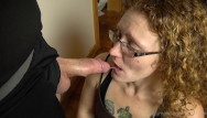Deep throat cock sucker - Redhead milf ivy learning to deep throat hubbys cock