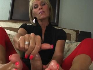 Nikki Ashton – MILF Gives A Cummy POV Footjob