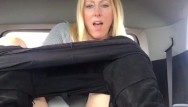 Sex machine rental us Blond milf squirts in rental vehicle