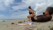 Index of nude people More real amateur public sex risky on the beach people walking near...