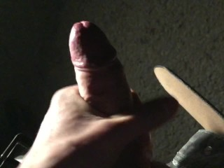 Solo masturbation / outdoor