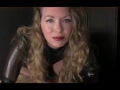 Mistress T Strokes Her Slave