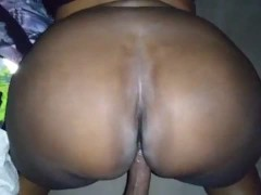 Big Bootie Step Mother A Mature Dark-hued Cougar Rails Step Son-in-law Giant Dark-hued Cock