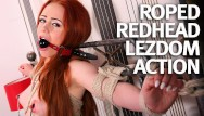 Bound and naked Natural teen redhead first time bound and fucked