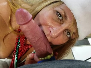 Santa Cums While He Gets His Cock Sucked by Wifey