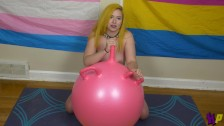 Shiloh Ren Does Yoga and Fucks an Exercise Ball till She Cums