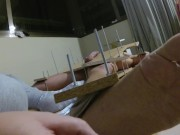 Amateur BDSM Femdom Handjob Torture with Feet Tickling