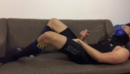 Gay asian blowjob thumbnail gallery post - Post-workout jerk-off: slowmo cum in tights and football socks
