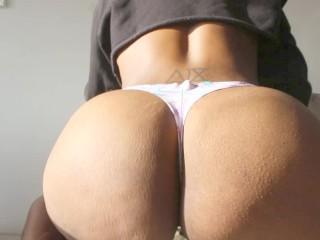 Horny & Home Alone Fat Ass Twerk, Juicy Ebony Pussy Close-Up Dildo & Anal