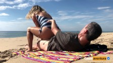 New Real Amateur Public Anal Sex Risky on the Beach !!!