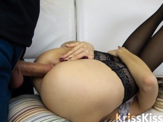 Blowjob Rough Anal with Tight Ass and Anal Creampie