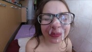 Ms victoria glasses facial Shy teen first facial , cumshot on glasses feet fetish