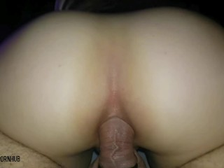I twerk on his cock with my big ass (homemade anal)(Amazing view)