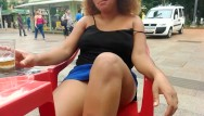 Adult flash hry Bbw ebony flashing at donwtown and do public blowjob