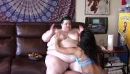 Lesbian kissing vidoes - Busty bbw feed kissed worship