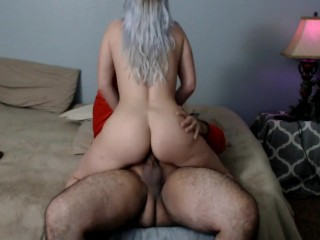 Riding him till he creampies my pussy