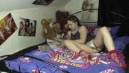 Teen panty wetting Sweet teen masturbates her hairy cunt with panties - panties finishing