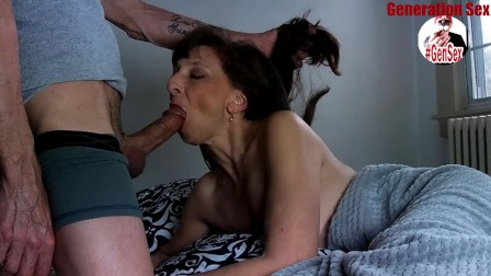 Sexy Milf Marie Blowjob Big Load Show Cum Swallow
