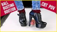 Heels boots boobs galleries Ballbusting cock trampling and cbt in high heel boots shoejob sockjob pov