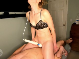 Horny girl has HUGE ORGASM while fantasizing about catching you with a girl