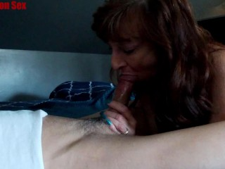 Tiny Dark Haired Sexy Milf Marie Swallows Big Load & Keeps Sucking