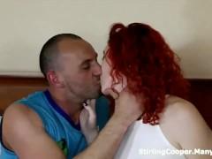 English Redhead Gets a MFM Spit Roast Threesome