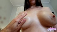 Milk tits pics - I fuck her and the she rides me while dropping milk from her big tits.