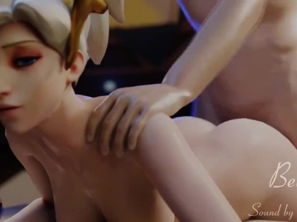 Overwatch Mercy Fucked Doggystyle 3D NSFW Animation