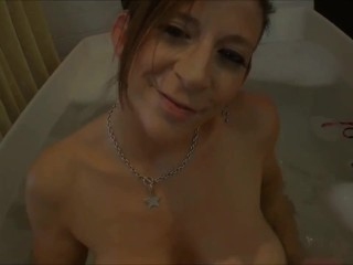 Sara Jay has a lot of fun in the tub