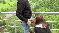 Vintage luke skywalker Risky public blowjob and doggy on the skywalk - almost got caught