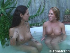 Nikki Montero and Mia Isabella naked at the bathtub Interview