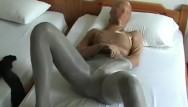 Gagged encased in pantyhose - Encasement pantyhose nylon multilayer masturbation in the hotel room