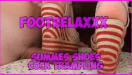 Naked with shoes Summer shoes cock trampling footrelaxxx