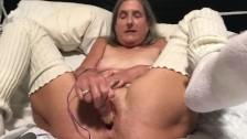 60 year old granny milf mature gilf big orgasm with pink rabbit