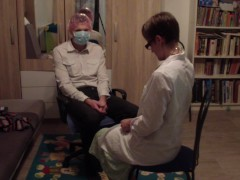 Medecin´s Rock-hard Hand Job By Youthfull Russian Doctor