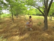POV outdoor. Love in the morning, amateur couple real public sex