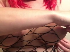 Hot Nipple Play Spitting And Pulling On Dd Titties