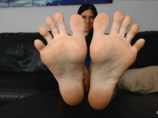 KYLIE'S FEET IN YOUR FACE FOOT POV