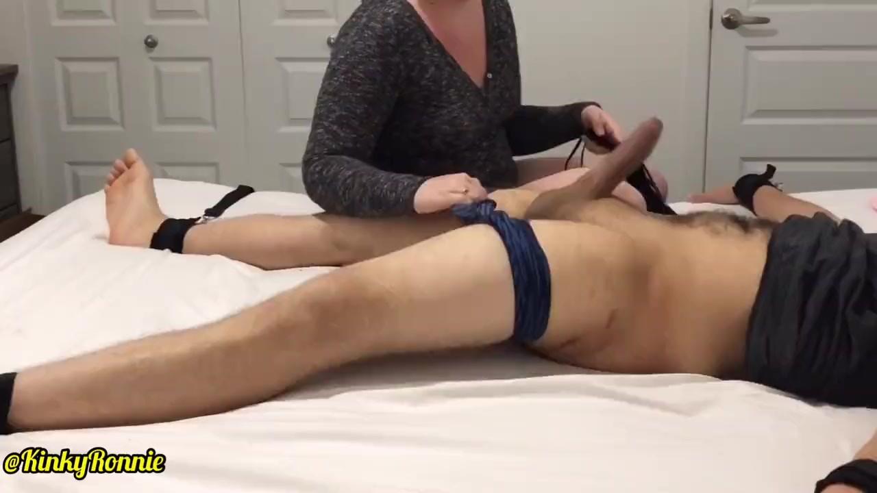 Ballbusting to 2 ruined orgasm (massive cumshot and humiliating)