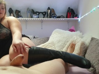 Teeny gets fucked in boots