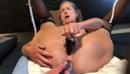 Rabbit black porn Hot milf masturbates with black rabbit and anal beads mature granny 60 year