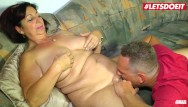 Big boob lover mature Letsdoeit - rough sex for busty german mature with her lover