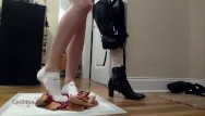 Amateur white sock fetish Sensually crushing cherry pies in white socks