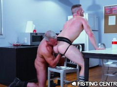 Boss Daddy Punishes Hunk 4 Slacking At Work - FistingCentral