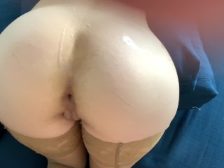 Cum in asshole. Homemade anal. Fucking in both holes, ass and pussy