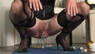 Bdsm enema and nipple torture Bdsm painslut: clit torture, whipped ass, piss drinking