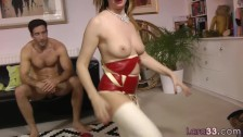 bigtitted european cougar bounces on big cock